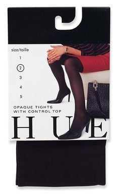 HUE Womens Opaque Control Top Tight Black Size 3 ** Details can be found by clicking on the image.