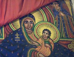 Ethiopian Virgin Mary and Jesus    In the old Church of St. Mary of Zion, Axum, Ethiopia.
