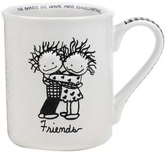 Enesco Children of The Inner Light BoyGirl Friends Mug 45inch -- Click image to review more details.