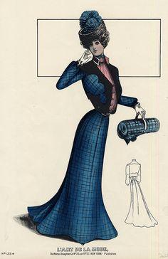 Walking suit 1903, Edwardian fashion plate. by dovima_is_devine_II, via Flickr