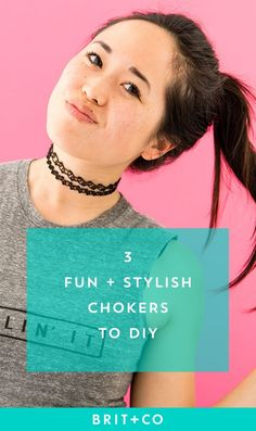 Don't miss out on this easy DIY choker tutorial that shows you how to make this on-trend jewelry.