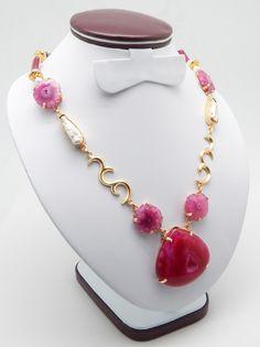 Bridal Wedding Jewelry Druzy Necklace Designer Handcrafted Natural Semi Precious Gemstone Jewelry Collection