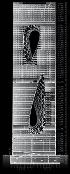 Structural design for the Sunrise Tower in Kuala Lampur, Malaysia (by Zaha Hadid)