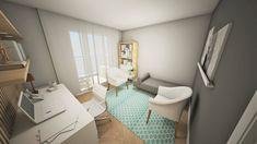 Consultório Psicanalise - Estúdio Ventana - Interiores + Design Therapy Office Decor, Clinic Design, Spa Rooms, Cabinet, Minimalism, Storage, Coaching, House, Furniture