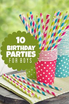 10 Birthday Parties for Boys www.spaceshipsandlaserbeams.com