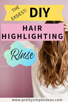 Hair Highlighting techniques at home! Get natural highlights without any harsh chemicals with this DIY Apple cider vinegar rinse. #haircare #haircaretips