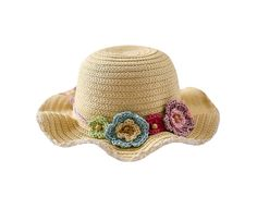 Genda 2Archer Lovely Floppy Sun Protection Straw Hat with Flower Decoration for Girls (52CM ( 2-4 Years Old )). Material:Straw. Size for reference:48CM suitable age:6-12 Month,50CM suitable age:1-2 Years Old,52CM suitable age:2-4 Years Old,54CM suitable age:4-8 Year. Lighweight,breathable,comfortable. Lovely & fashion design. Perfect for your baby girls for going out.