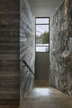 Contemporary luxury chalet in The Yellowstone Club, Montana, USA // Reid Smith Architects, Design Services and Teton Heritage Builders Yellowstone Club, Best Interior Design Websites, Montana Homes, Dark Interiors, Big Sky, Modern Rustic, Modern Contemporary, Beautiful Homes, Rocky Mountains
