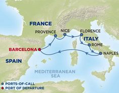 Mediterranean Cruise (different places).  I think the places around this sea are some of the most beautiful places I've seen.