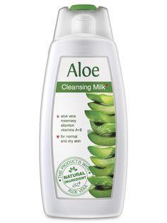 Lapte demachiant Aloe Vera cod - aloe323  Pentru pielea normală sau uscată, pe termen lung, utilizarea laptelui demachiant cu extract natural din Aloe Vera ajută la menținerea tinereții pielii. Pielea a fost răsfățată si îngrijită cu Aloe Vera din timpuri străvechi. Motivul este puterea mare de hidratare și efectul de catifelare avut asupra tegumentului. Substanțele active din plantă încetinesc schimbările degenerative ale pielii și stimulează producția de colagen și de elastină. ...