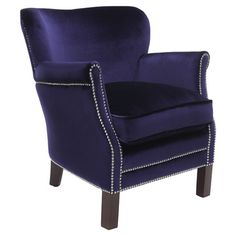 Farrell Velvet Arm Chair  at Joss and Main