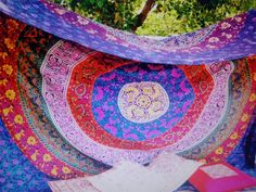 Queen Size Indian Mandala Tapestry Wall Hanging Beach Throw Bedding Bedspread  #Unbranded #ArtDecoStyle #BedspreadWallHangingHomeDecor