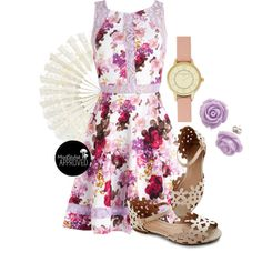 """Whole Dine Yards Dress"" by modcloth on Polyvore"