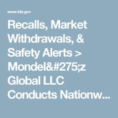 Recalls, Market Withdrawals, & Safety Alerts > Mondelēz Global LLC Conducts Nationwide Voluntary - Recall of Oreo Fudge Cremes Product Sold in the U.S. Recall Due to Milk Allergen Not Listed in Ingredient Line