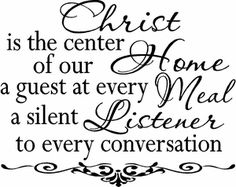Center of our Home Wall Quote