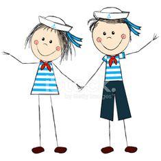 Nautical Photo Booth, Class Decoration, Stock Foto, Stick Figures, Doodle Art, Painted Rocks, Sailor, Illustration Art, Doodles