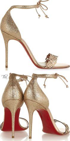 Christian Louboutin's glitter-finished sandalsc