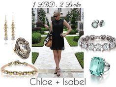 1 Little Black Dress, 2 possible looks. Shop now at https://www.chloeandisabel.com/boutique/renadaleigh