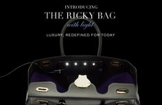 The Ralph Lauren Collection Ricky Bag with LED lights & USB port
