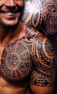 The roots of tribal tattoos are are always deeply symbolic in ancient times and represent one's rank and social status. Here we compiled 25 best tribal tattoo designs for men. Tribal Chest Tattoos, Tribal Shoulder Tattoos, Tribal Tattoos For Men, Mens Shoulder Tattoo, Trendy Tattoos, Tattoos For Guys, Cool Tattoos, Men Tattoos, Tatoos