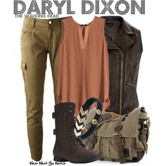 """Daryl Dixon (The Walking Dead)"" by wearwhatyouwatch on Polyvore"