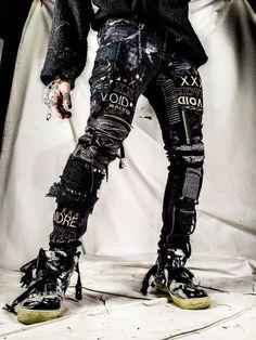 Punk rock pants by moreriot Punk Outfits, Grunge Outfits, Grunge Fashion, Fashion Outfits, Punk Goth Fashion, Modern Punk Fashion, Metal Fashion, Rock Fashion, Gothic Fashion