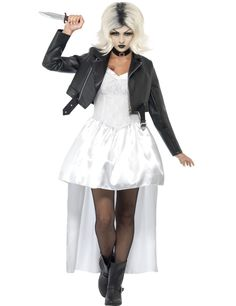 Bride of Chucky Halloween costumes for women. Fan of the Bride of Chucky movie, or your taste in Halloween costumes is scary. Bride Of Chucky Fancy Dress, Doll Fancy Dress Costume, Bride Of Chucky Halloween, Bride Of Chucky Costume, Halloween Costumes For Sale, Halloween Fancy Dress, Halloween Doll, Halloween Horror, Ideas Party