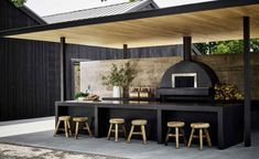 Kimpton Hotels' newest outpost in Toronto, Kimpton Saint George Hotel is designed by Mason Studio and it's full of pieces by top Canadian design talent Outdoor Bbq Kitchen, Outdoor Kitchen Design, Outdoor Dining, Outdoor Spaces, Backyard Patio Designs, Design Case, New Homes, House Design, Saint George