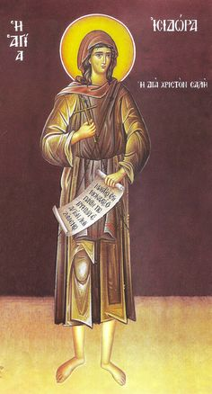 "Nun Isidora the Fool-for-Christ (6th cent Egypt) pretended to be insane in order to fulfill the Scripture ""Whosoever of you believes that he is wise by the measure of this world, may he become a fool, so as to become truly wise."" She took abuse from all nuns. At that time, Saint Pitirim had a vision to seek the nun with a crown on her head, who was holier than him. He found Isidora; all nuns confessed the torments they had inflicted. She couldn't bear their kindness and left in secret. (May 10)"