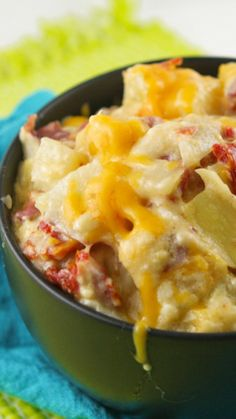 Baked potato casserole with artichokes and sun-dried tomatoes