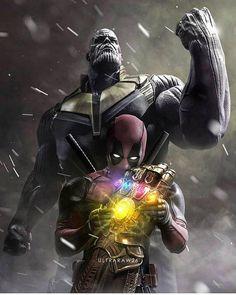 Brutal fanart de Ultraraw26! . . . #Marvel #AvengersInfinityWar #Thanos #DeadPool #Deadpool2 #CapitanAmerica #CaptainAmerica #IronSpider #Ironman