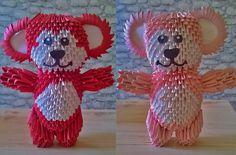 3D Origami Teddy Bears