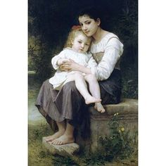 Buyenlarge 'Big Sis' by Bouguereau Painting Print Size: