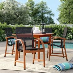 Country French-Style Home Ideas | Better Homes & Gardens Outdoor Dining Set, Patio Dining, Outdoor Entertaining, Outdoor Spaces, Outdoor Decor, 3 Piece Bistro Set, 3 Piece Dining Set, Solid Wood Table Tops, French Style Homes