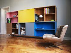 Pistorius - Möbel und Interior - B. Side Board, Modern Love, Storage Shelves, Wood Projects, Corner Desk, Modern Furniture, Bookcase, Sweet Home, New Homes
