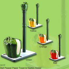 Yellow Bell Pepper decor | Bell Pepper NAPKIN HOLDER, SALT & PEPPER SHAKERS