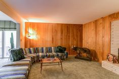 """For $499K in Dunwoody, far-out midcentury modern goes full Brady Bunch  - Curbed Atlantaclockmenumore-arrownoyes : This """"stunning"""" tri-level time-capsule from 1963 is marketed as one groovy place for entertaining."""