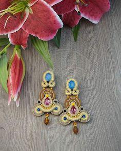 Summer color #selenkhloejewelry #soutachejewelry #jewelrydesigner #jewelry #2016 #ashtag #instalike #instafashion #instacool #pink #lightblue #earring #bijoux #orecchini
