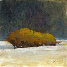 Marc Bohne - Oil Landscape Paintings - Untitled #61, 6 x 6 inches, oil on paper