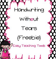 Free Handwriting without Tears free writing paper templates