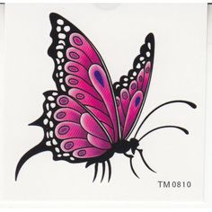 King Horse Waterproof temporary tattoos elegant butterfly sexy ...
