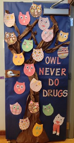 Our Red Ribbon Week door.