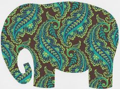 Elephant Peacock - two of my fave animals in one!