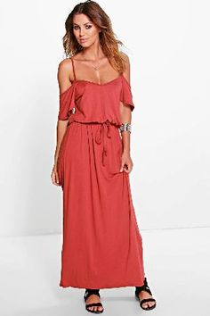boohoo Open Shoulder Maxi Dress - chestnut AZZ02612 Full-on fashion starts with a floor-sweeping maxi dressMove over minis, were all about entrance-making maxi dresses this season. The seasonless style looks effortless for every day in easy-to- wear je http://www.MightGet.com/january-2017-13/boohoo-open-shoulder-maxi-dress--chestnut-azz02612.asp