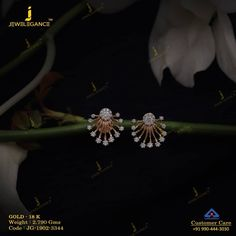 Get In Touch With us on Gold Jhumka Earrings, Jewelry Design Earrings, Gold Earrings Designs, Gold Rings Jewelry, Gold Jewellery Design, Kids Earrings, Diamond Jewelry, Diamond Earrings, Jewelery