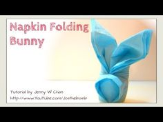 How to Fold a Bunny / Rabbit from a Napkin - Easter Crafts - DIY Napkin Folding - EASY Table Setting