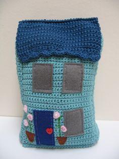 Inspiration @ Emma Varnam - cute crochet house doorstop