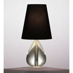 Robert Abbey Jonathan Adler Claridge Lamp with Black Shade