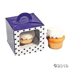 Clear cupcake boxes for 2 cupcakes with handle: 1 10 premium quality