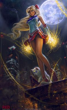 Creative Digital Illustrations by George Redreev ~ I don't think Sailor Moon has ever looked so cool